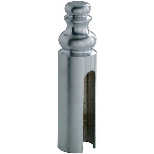 Серебристый колпачок для дверных петлей