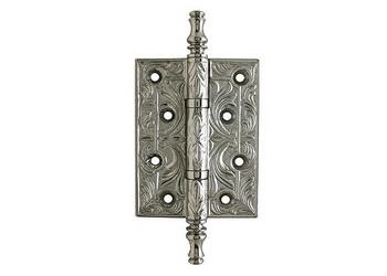 Декоративная дверная петля серебро